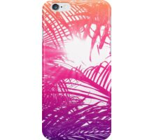 Tropical Orange, Pink, & Purple Palm Fronds iPhone Case/Skin