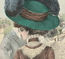 Paris Fashion Lady in a Green Hat II by studio20seven