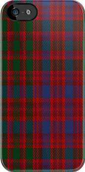 02213 Red Green Fodder, (Unidentified #35) Tartan Fabric Print Iphone Case by Detnecs2013