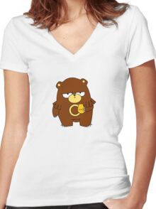 Cute Widdle Ursaring Women's Fitted V-Neck T-Shirt