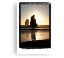 Needles, Canon Beach, Oregon Coast Canvas Print