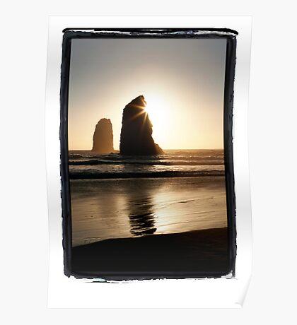 Needles, Canon Beach, Oregon Coast Poster