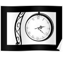 Vintage Wrought Iron Table Clock Poster
