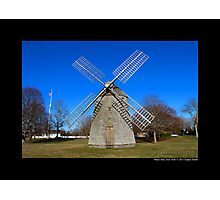 Historic Windmill - Water Mill, New York Photographic Print