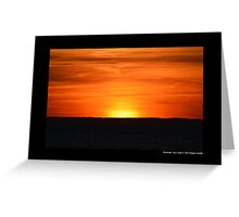 Sunset - End Of The Day - Montauk, New York Greeting Card