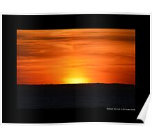 Sunset - End Of The Day - Montauk, New York Poster