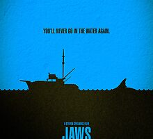 "Movie Poster - ""JAWS"" by Mark Hyland"