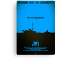 "Movie Poster - ""JAWS"" Canvas Print"