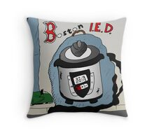 Boston Marathon Bombing Pressure Cooker Throw Pillow