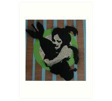 Girl whit bomb Art Print