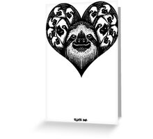 A Slothy Heart Greeting Card