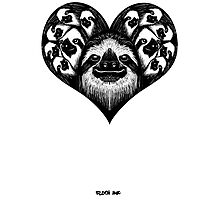 A Slothy Heart Photographic Print