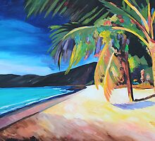 Beach at Magen's Bay, St Thomas, USVI - I by artshop77