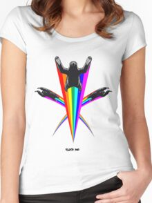 Sloth Rainbow Women's Fitted Scoop T-Shirt