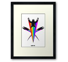Sloth Rainbow Framed Print