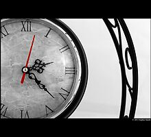 Vintage Wrought Iron Table Clock Detail by © Sophie W. Smith