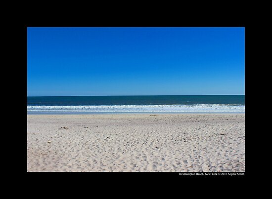 View On Atlantic Ocean - Westhampton Beach, New York  by © Sophie W. Smith
