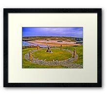 Perranzabuloe Millenium Sundial Framed Print