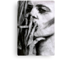 Lara Smoking Canvas Print