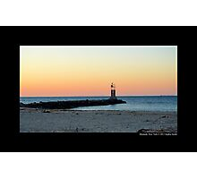 Lake Montauk Leading Light During Sunset - Montauk, New York Photographic Print