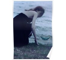 By the waters edge she found her calm Poster