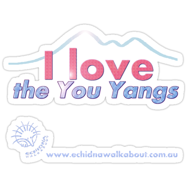 I love the You Yangs - dark background 2 by Echidna  Walkabout