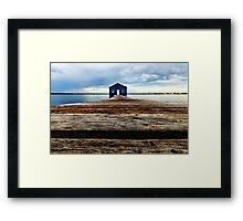 Lowdown on the Boatshed Framed Print