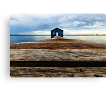 Lowdown on the Boatshed Canvas Print