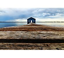 Lowdown on the Boatshed Photographic Print