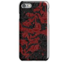 KLAIME Red & Black iPhone Case/Skin