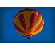 Hot air balloon overhead Photographic Print