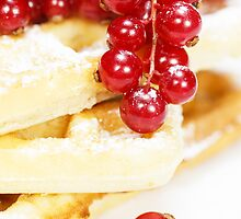 Waffles with fresh berries by Slast20