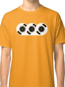 3 Records on a shirt - DJ Disc Jockey Vinyl Classic T-Shirt