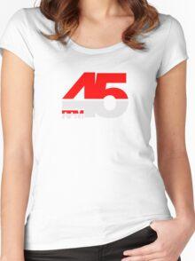 45 RPM - DJ Music Vinyl Women's Fitted Scoop T-Shirt