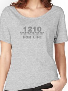 1210 For Life - Technics Turntable Vinyl Women's Relaxed Fit T-Shirt