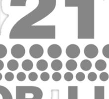1210 For Life - Technics Turntable Vinyl Sticker