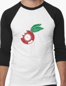 Apple Vinyl Bite - Record DJ Men's Baseball ¾ T-Shirt