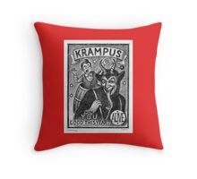 Krampus Throw Pillow