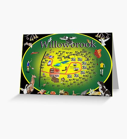 Willowbrook Cottages Greeting Card