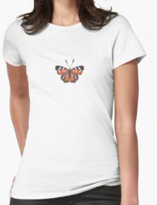 Butterfly Vinyl - Music Insect Womens Fitted T-Shirt