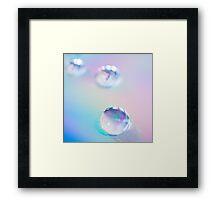droplets*blue Framed Print