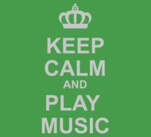 Keep Calm And Play Music Kids Tee
