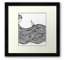 Bobbing Along Framed Print