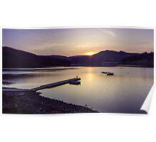 Ladybower Reservoir Sunset Poster