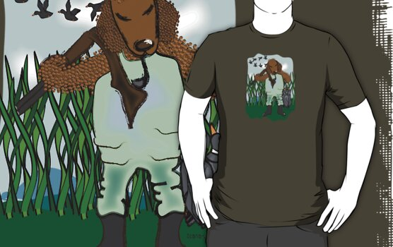 Curly Coated Hunter t-shirt/hoodie by Diana-Lee Saville