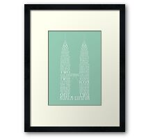 'Wordy Structures' Petronas Towers Framed Print