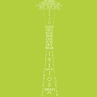 'Wordy Structures' Space Needle Green by Becki Breed
