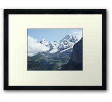 Snowy Eiger Framed Print
