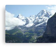Snowy Eiger Canvas Print
