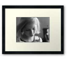 in the light..... Framed Print